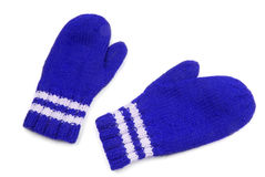 Blue mittens Royalty Free Stock Photo