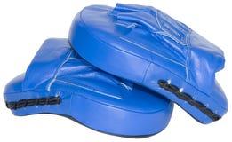 Blue mitts cutout Stock Photos