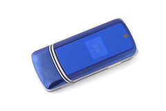 Blue mobile phone Stock Images