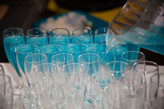 Blue mocktail Royalty Free Stock Photography