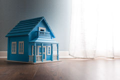 Blue model house Stock Photos