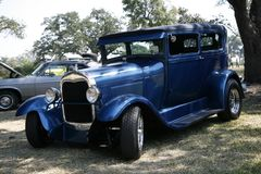 Blue model T Stock Photography