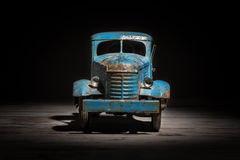 Blue model truck Stock Images