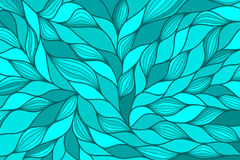 Blue modern abstract background with hand drawn waves. Vector illustration. Stock Image