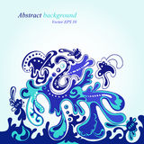 Blue modern abstract background. Vector EPS 10 Vector Illustration