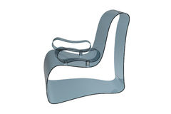 Blue Modern Acrylic Armchair Stock Images