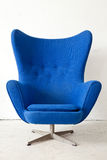 Blue modern Armchair Royalty Free Stock Photos