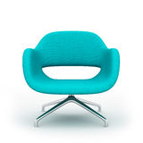Blue modern armchair isolated Royalty Free Stock Photography