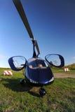 Blue modern autogyro Stock Photos