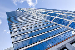 Blue modern business buildings Stock Photography