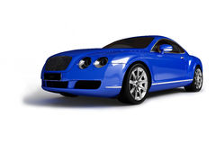 Blue modern car Royalty Free Stock Images