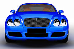 Blue modern car Stock Photo