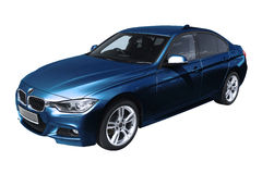 Blue modern car, BMW 3 (F30) Royalty Free Stock Image