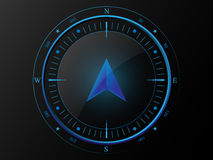 Blue modern compass Stock Photos