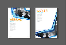 Blue  modern cover abstract Brochure cover book template, design Stock Photo