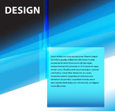 Blue modern design Royalty Free Stock Photography