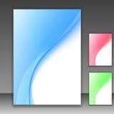 Blue modern folder template - swoosh background Royalty Free Stock Photography