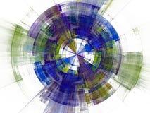 Blue modern fractal royalty free illustration