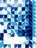 Blue modern geometric abstract background Stock Photos