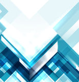 Blue modern geometric abstract background Royalty Free Stock Photography