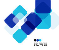 Blue modern geometric design template Stock Photo