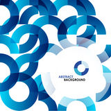 Blue modern geometrical abstract background Royalty Free Stock Photography