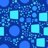 Blue modern geometrical abstract background with circle and square Royalty Free Stock Image