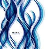 Blue modern geometrical wave abstract background Royalty Free Stock Image