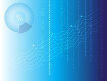 Blue modern graphs with numbers. For business Stock Image
