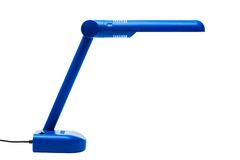 Blue modern lamp Stock Images