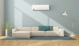 Modern living room with air conditioner royalty free stock images