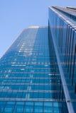 Blue modern office building stock photo