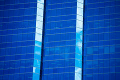 Blue modern Office building glasss design Royalty Free Stock Images