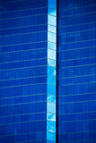 Blue modern Office building glasss facade Stock Images