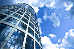 Blue modern office skyscraper Royalty Free Stock Photos