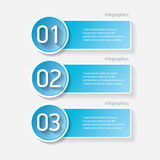 Blue modern progress paper banners. Can be used for infographics , numbered banners, horizontal cutout lines, graphic or website layout vector Stock Photo
