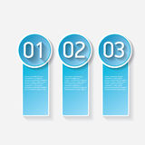 Blue modern progress paper banners. Can be used for infographics , numbered banners, horizontal cutout lines, graphic or website layout vector Royalty Free Stock Image