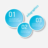 Blue modern progress paper banners. Can be used for infographics , numbered banners, horizontal cutout lines, graphic or website layout vector Royalty Free Stock Photography