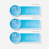 Blue modern progress paper banners. Can be used for infographics , numbered banners, horizontal cutout lines, graphic or website layout vector Royalty Free Stock Photos