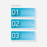 Blue modern progress paper banners. Can be used for infographics , numbered banners, horizontal cutout lines, graphic or website layout vector Royalty Free Stock Images