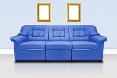 Blue modern sofa Royalty Free Stock Images