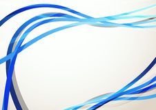 Blue modern swoosh abstract background Royalty Free Stock Photos