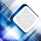 Blue modern template Stock Image