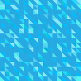 Blue modernist background pattern wallpaper geometric shapes triangles polygons Royalty Free Stock Photos