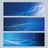 Blue moire cards Royalty Free Stock Photo