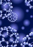 Blue_molecule_background Royalty Free Stock Image