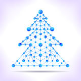 Blue molecule christmas tree. Royalty Free Stock Photography