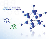 Blue molecule symbol Royalty Free Stock Photo