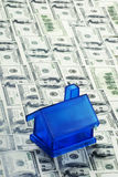 Blue Money House Stock Photography