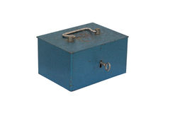 Blue moneybox. On a white background Stock Images